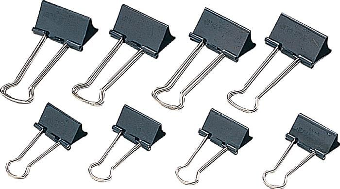 Clipsuri metalice negre,32mm,12buc/cutie