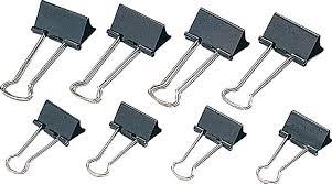 Clipsuri metalice negre,50mm,12buc/cutie