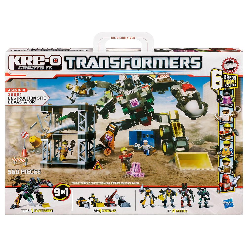 Transformers kree-o create it devastator 8-14 ani