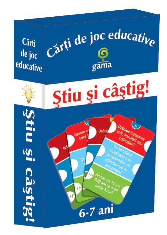 STIU SI CASTIG! - CARTI DE JOC EDUCATIVE