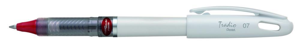 Roller gel Tradio,corp alb,0.7mm,rosu