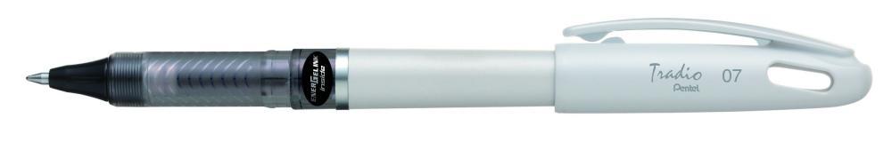 Roller gel Tradio,corp alb,0.7mm,negru