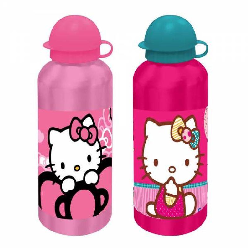 Bidonas apa,aluminiu,500ml,Hello Kitty