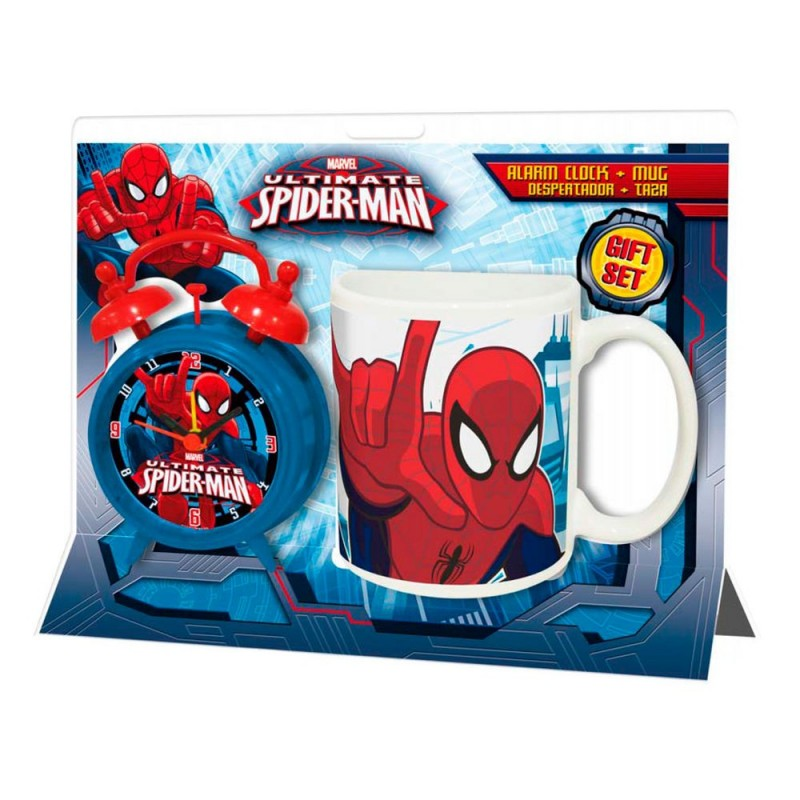 Set ceas masa+cana portelan,Spiderman