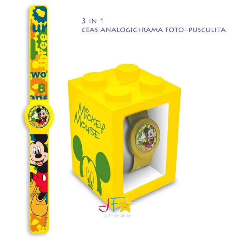 Set ceas mana+pusculita+rama,Mickey