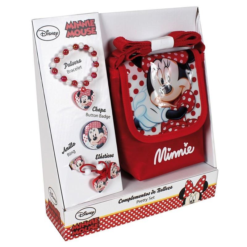 Set geanta umar+accesorii Minnie