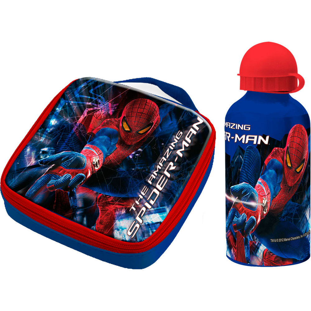 Set bidonas apa+gentuta pranz,Spiderman
