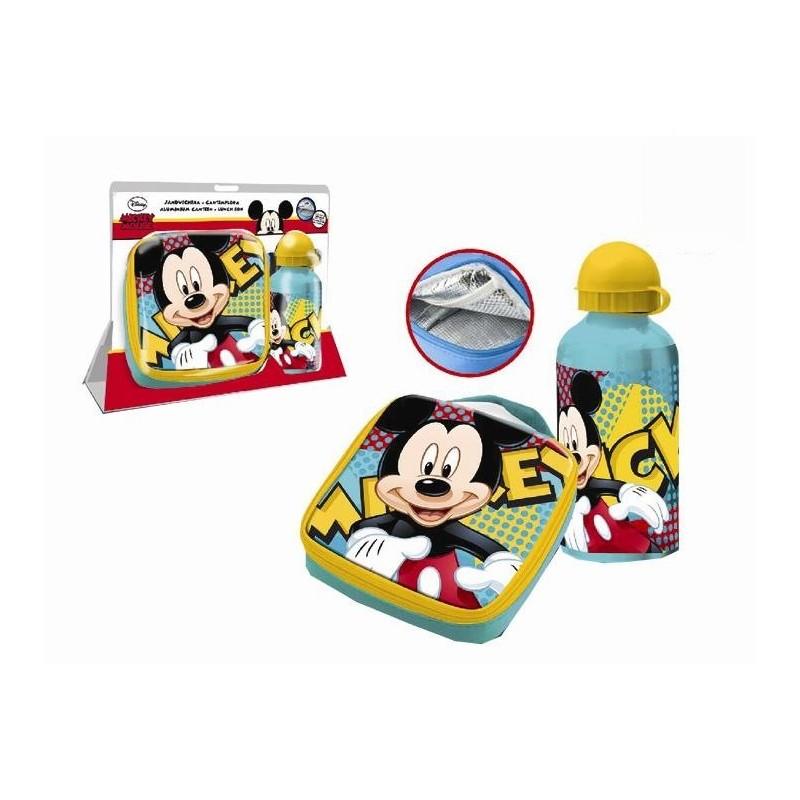 Set bidonas apa+gentuta pranz,Mickey