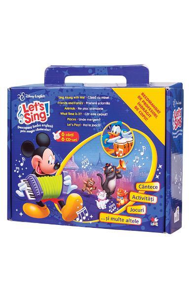 LET\'S SING! DESCOPERA LIMBA ENGLEZA PRIN MAGIA CANTECELOR. SET 6 CARTI+CD