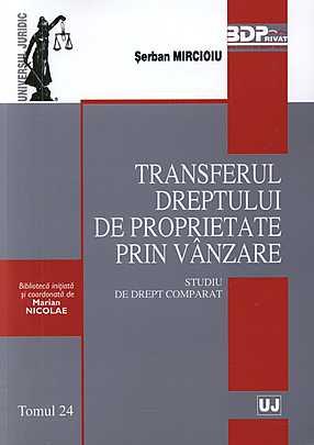 TRANSFERUL DREPTULUI DE PROPRIETATE PRIN VANZARE