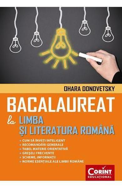 BACALAUREAT LA LIMBA ROMANA DONOVETSKY