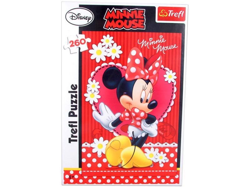Set puzzle 260 piese+carti joc Minnie