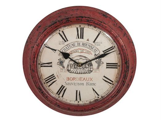 Ceas  rosu Russeau,30x30x6cm