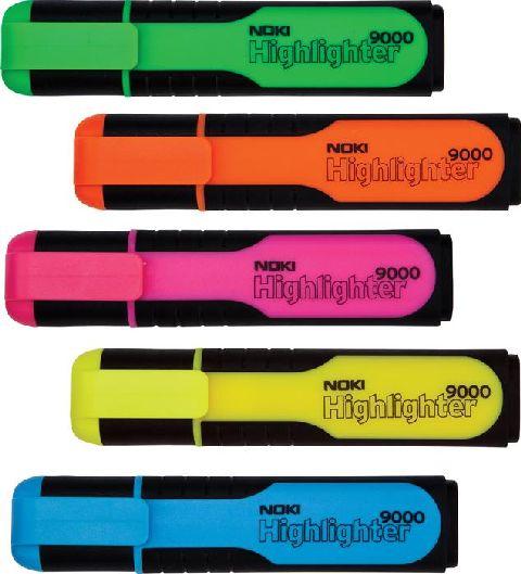 Texmarker Noki Wide9000,retezat,galben