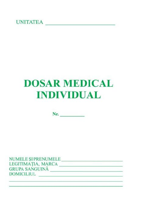Set dosar medical (DM+fisa PM+fisa PSI)
