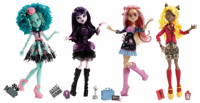 Papusa Monster High prietenele noi covorul negru