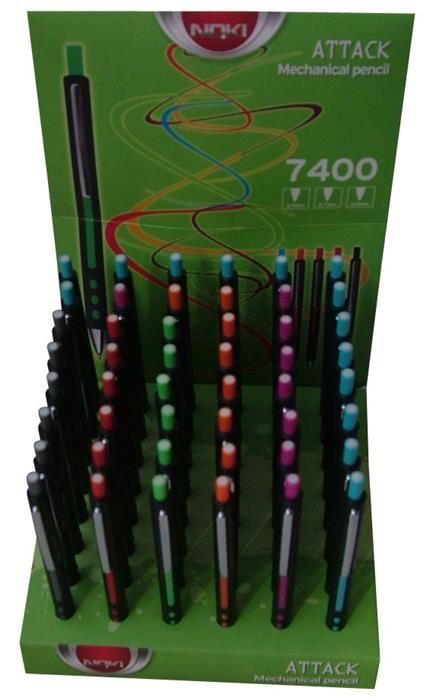 Creion mecanic Noki Attack,0.7mm,verde