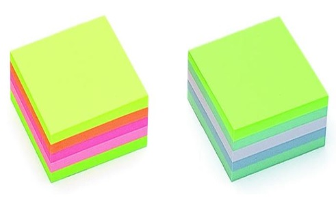 Cub notite adezive Neon,51x51mm,250file