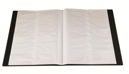 Clasor carti vizita,12x25cm,240poz.,PVC