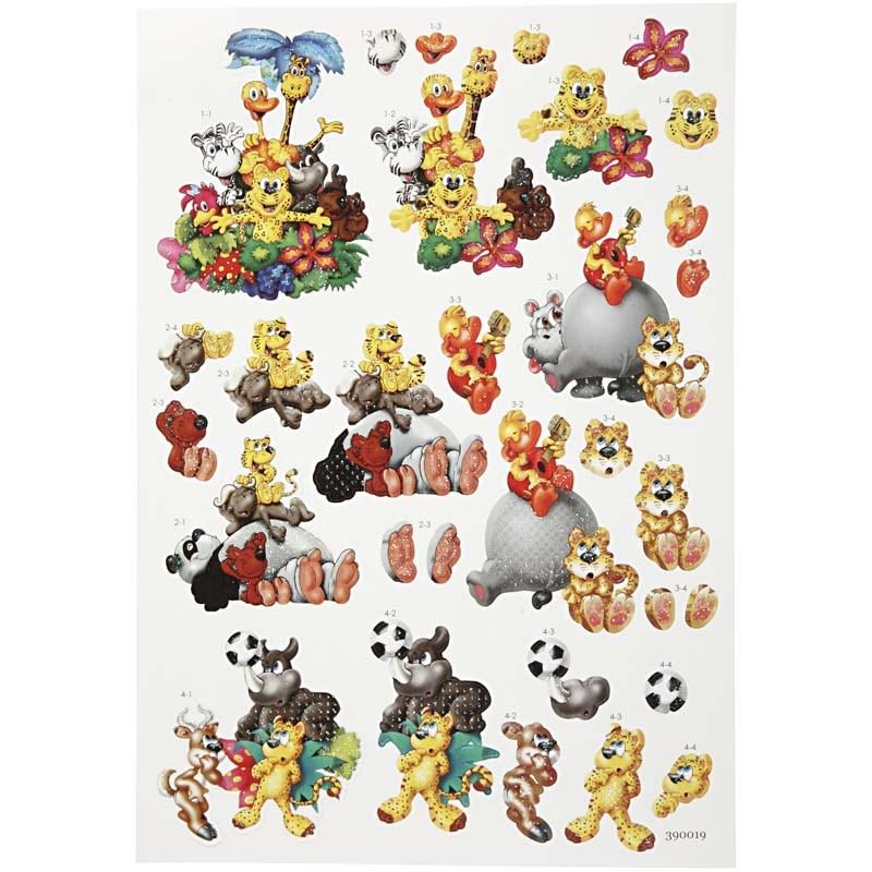 Stickere 3D,coala A4,diverse animale
