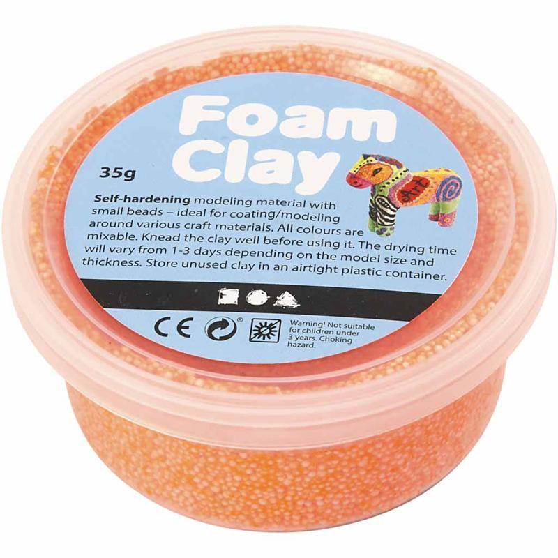 Spuma Clay,35g,portocaliu neon