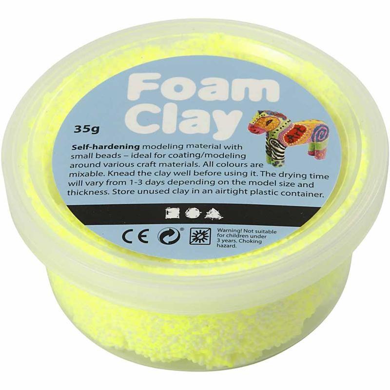 Spuma Clay,35g,galben neon