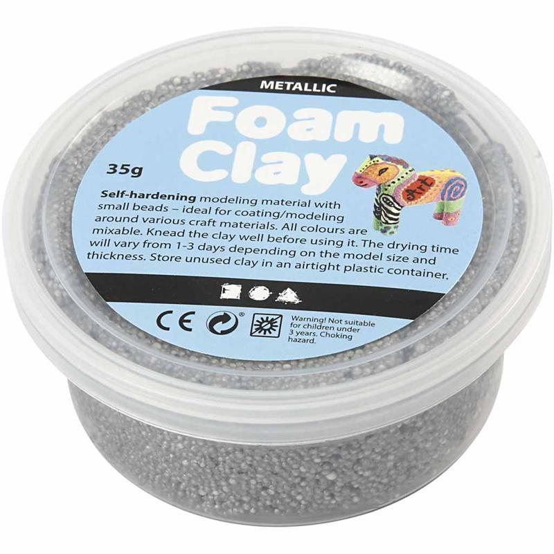 Spuma Clay,35g,glitter,argintiu