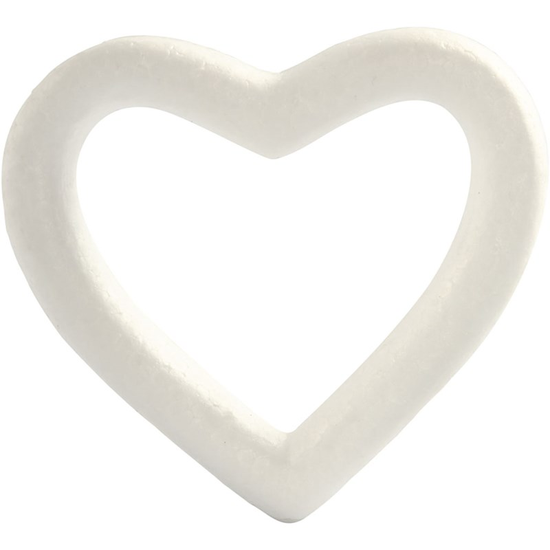Inima polistiren,13.5cm,bucata