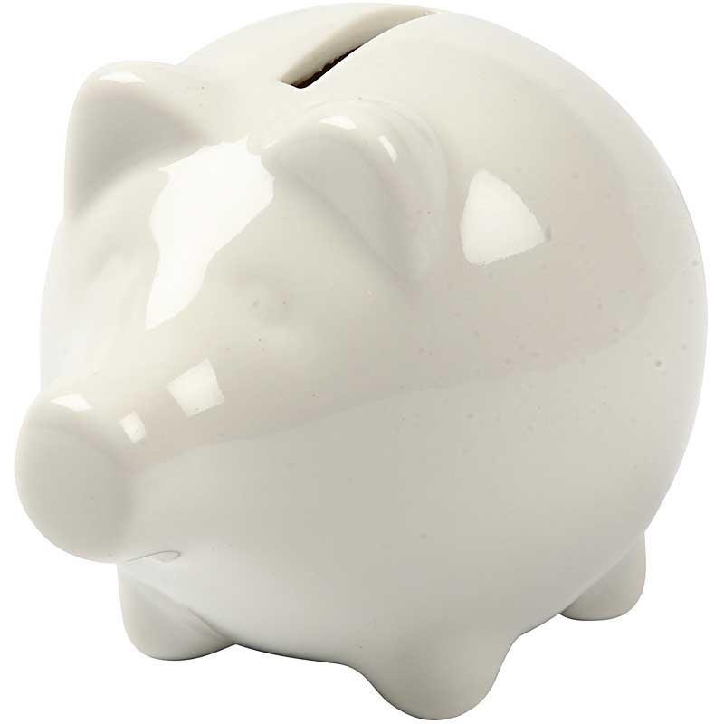 Pusculita porc,portelan,8cm