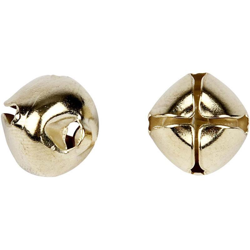 Clopotei metalici,8/10/13mm,auri,18 b/s