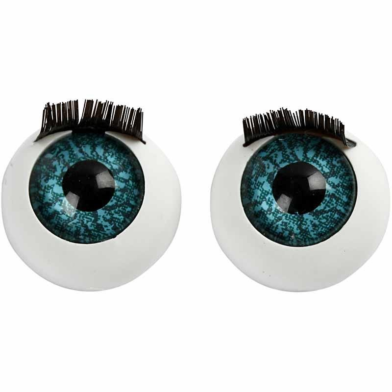 Ochi mari cu gene,17mm,4 buc/set