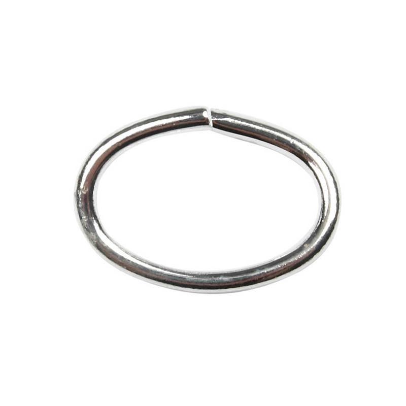 Inel oval,1.2mm,placat argint,20buc
