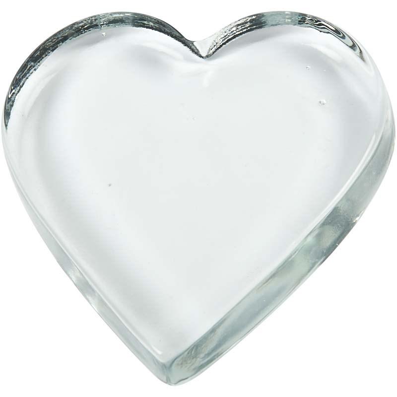 Inima sticla decorativa,9x9cm