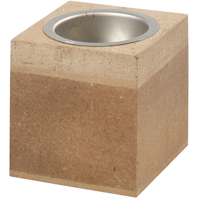 Suport lumanare,MDF,6x6x6cm