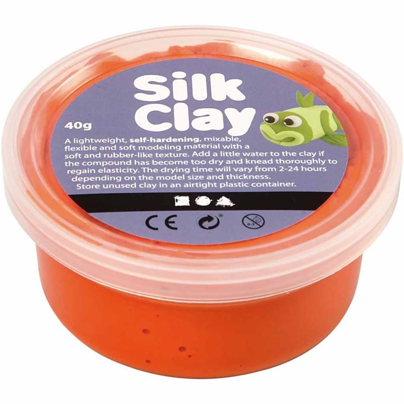 Pasta modelatoare Silk Clay,40g,portocaliu