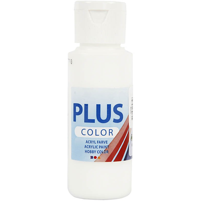 Culori acrilice Plus Color,60ml,alb