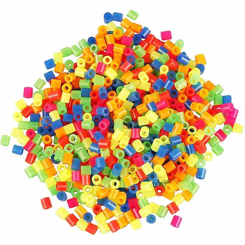 Margele Hama,5x5mm,neon,1000 buc/set
