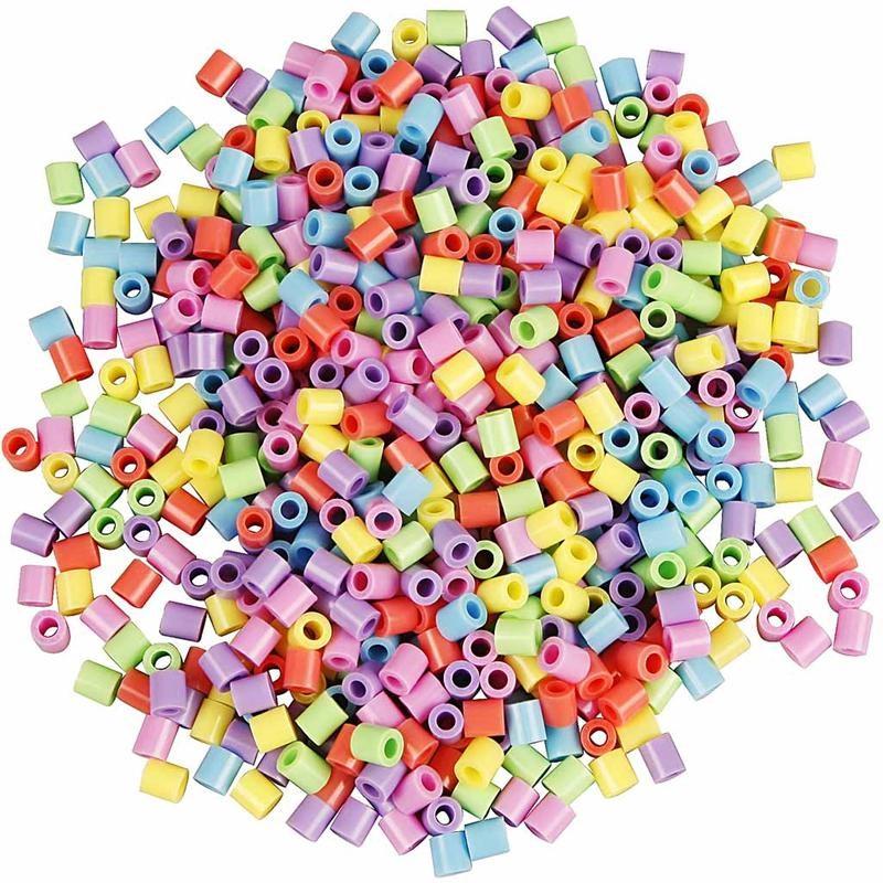 Margele Hama,5x5mm,pastel,1000 buc/set