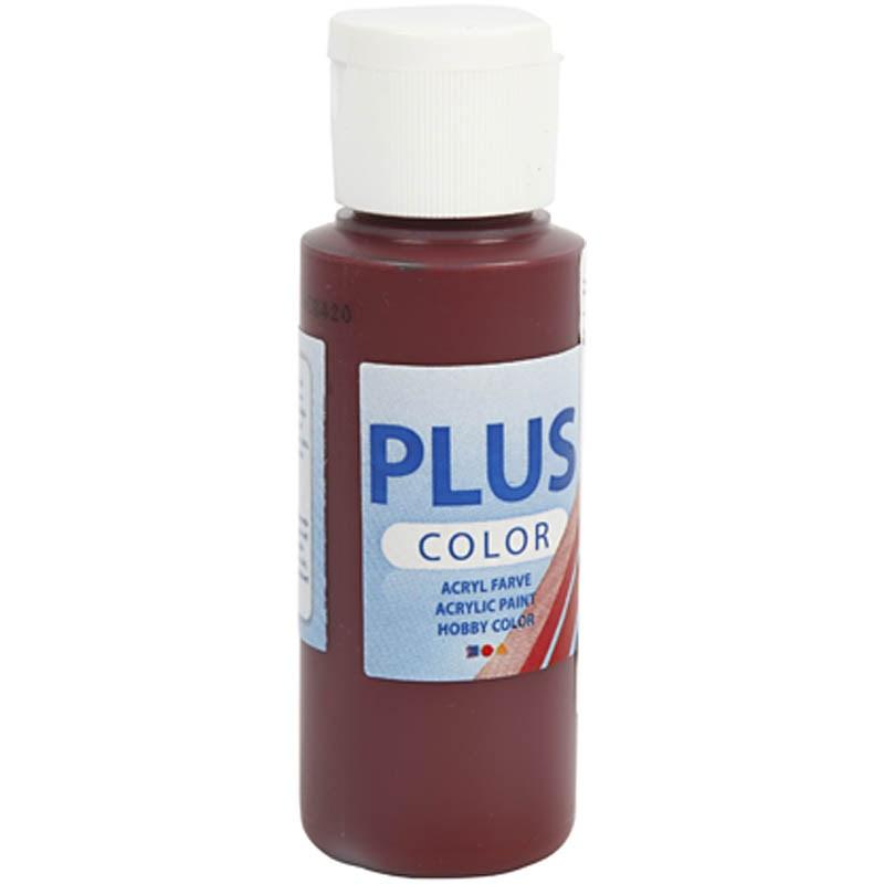 Culori acrilice Plus Color,60ml,bordeaux