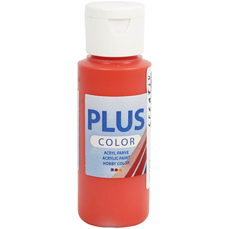 Culori acrilice Plus Color,60ml,brilliant red