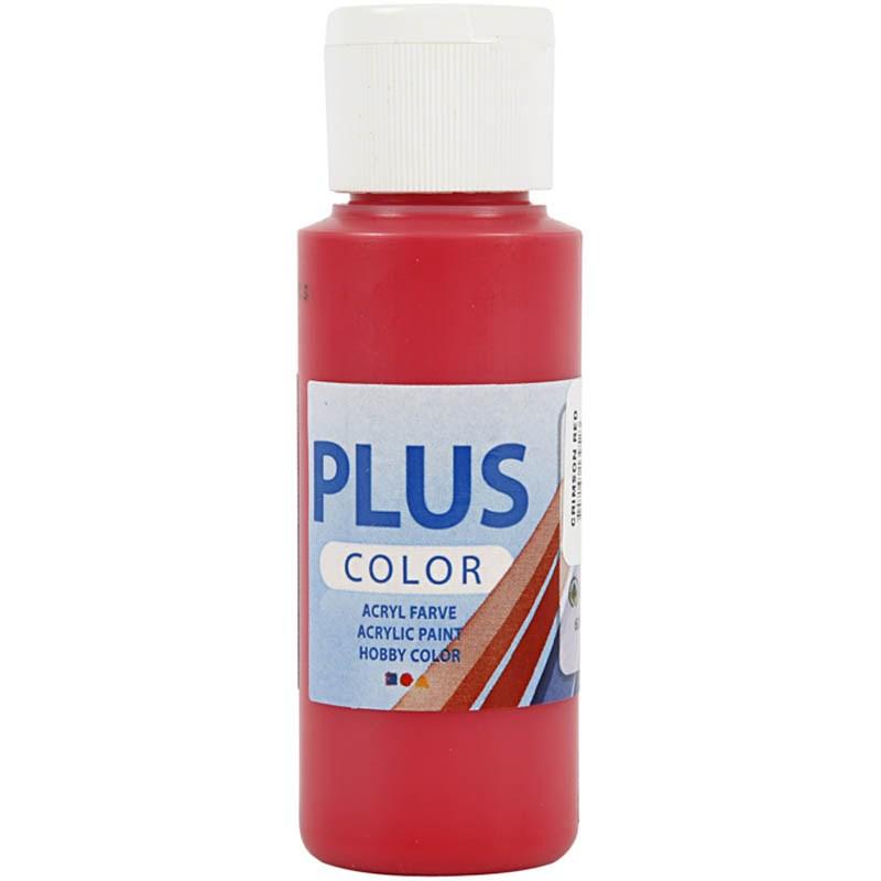 Culori acrilice Plus Color,60ml,crimson red
