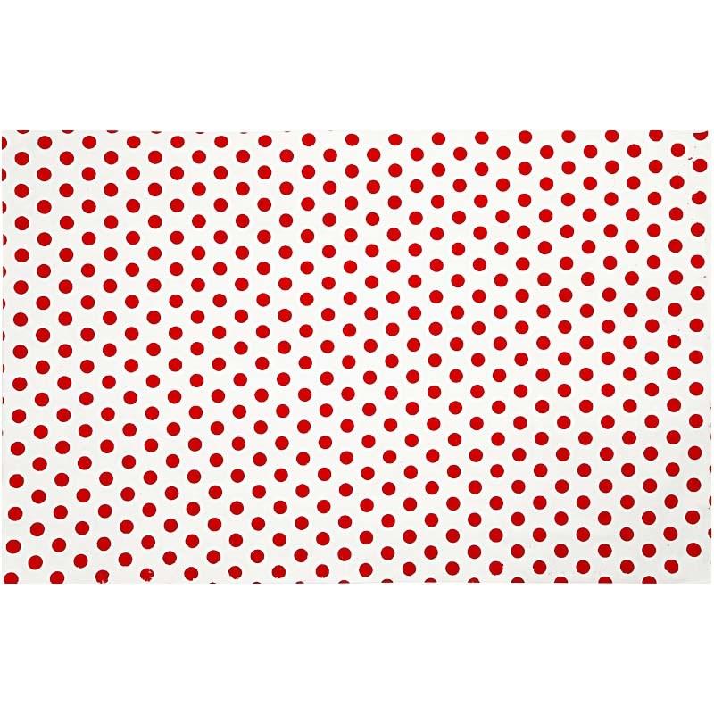 Hartie manuala 38x56,110g,rosu/alb/puncte