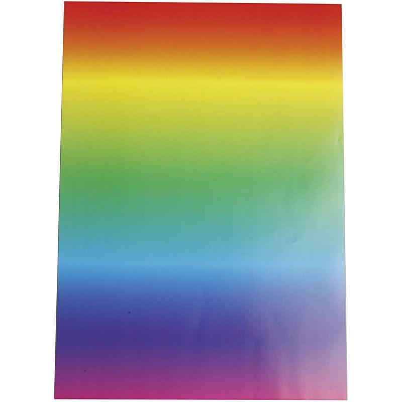 Hartie rainbow A4,128g,10 buc/set