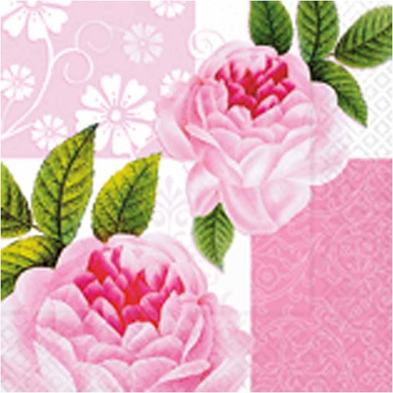 Servetele,33x33cm,20buc,trandafir