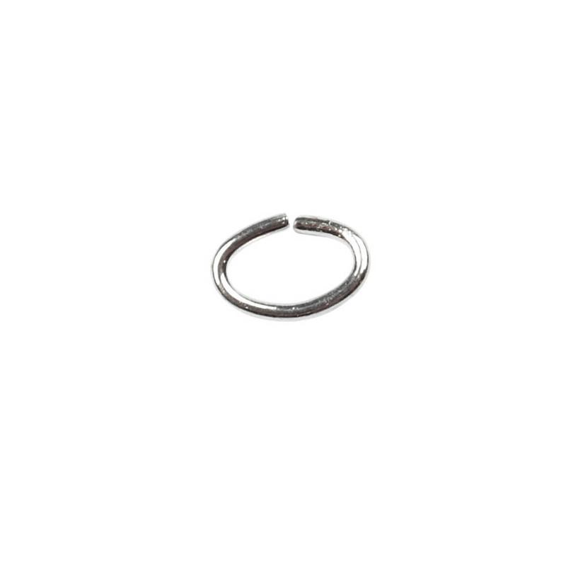 Inel oval,0.7mm,placat argint,50buc