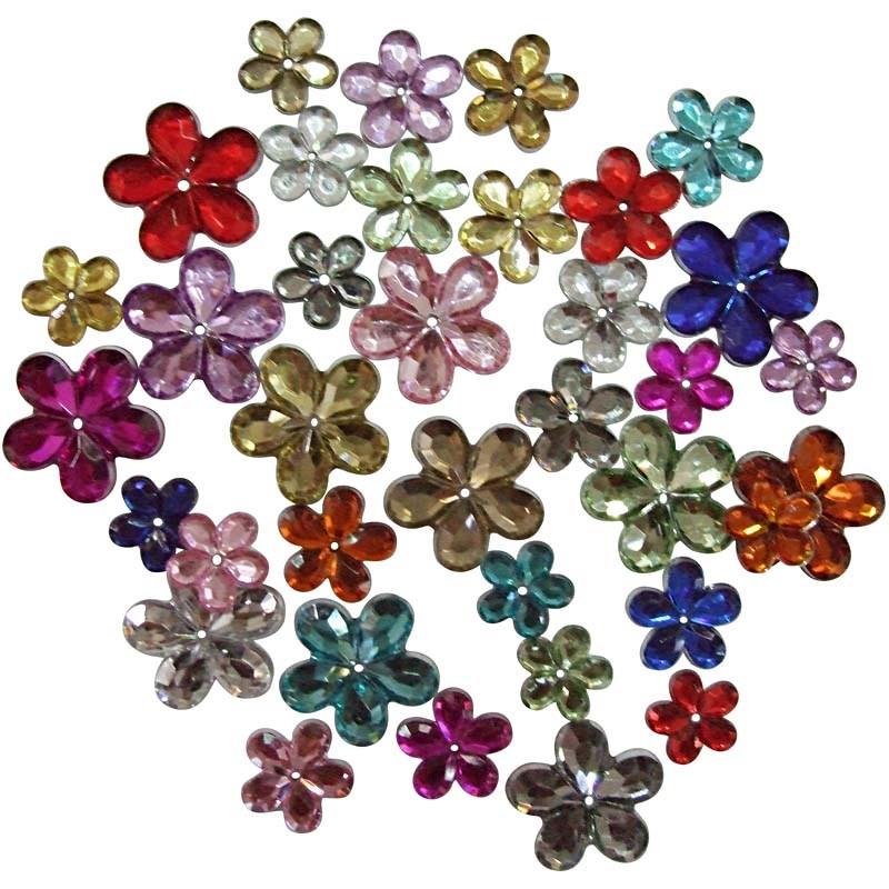 Pietre,6/10/12mm,flori,div culori,252b/s