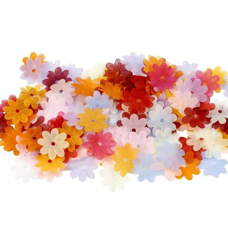 Flori tip paiete,organza,35mm,30 buc/set