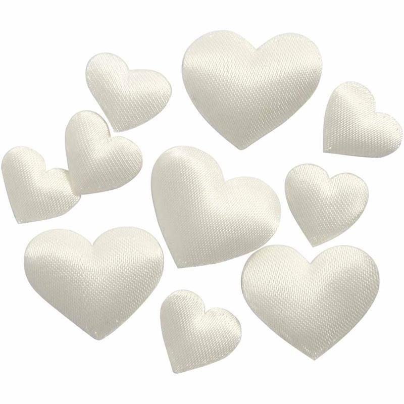 Inimi satin,vatuite,10/20mm,albe,70 b/s