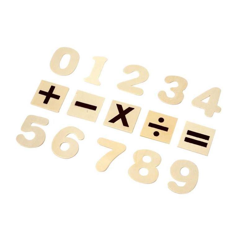 Numere si simboluri lemn pt decorat,40cm