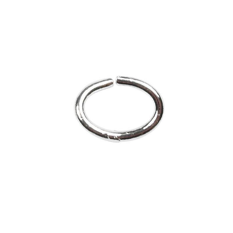 Inel oval,1mm,placat argint,40buc